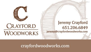 Crayford Woodworks Business Card Design