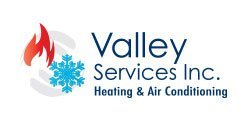 valley services inc. heating and conditioning logo design